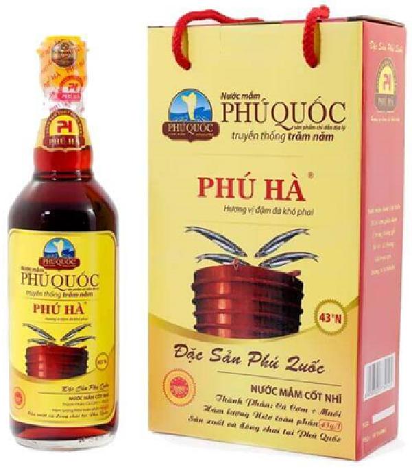 Sản phẩm nước mắm Phú Quốc Phú Hà
