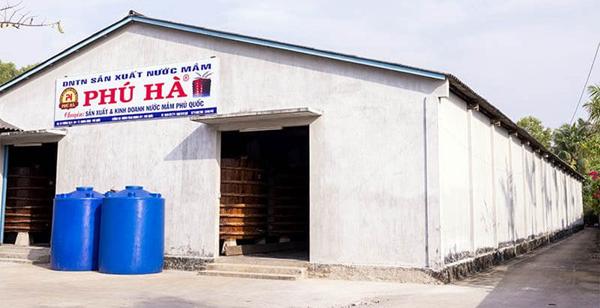 Nhà thùng – xưởng sản xuất nước mắm Phú Quốc Phú Hà