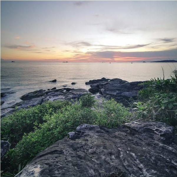 Ngắm hoàng hôn Phú Quốc tại bãi biển Gành Dầu